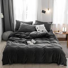 保暖刺绣天鹅绒单床单水晶绒法莱绒床单单人双人床单1.5m1.8m2.0m(刺绣) 单被套150*200 德霖-灰色