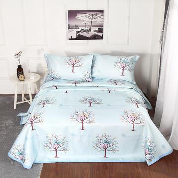 新品冰丝席三件套 枕套床单凉席 席子可折叠机洗水洗套件批发冰丝凉席  冰丝席 时尚冰丝席