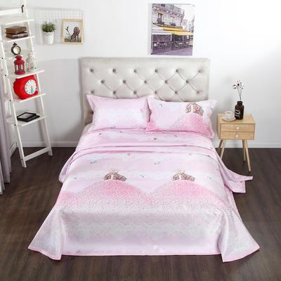 新品冰丝席三件套 枕套床单凉席 席子可折叠机洗水洗套件批发冰丝凉席  冰丝席 时尚冰丝席 1.8m(6英尺)床 甜心公主