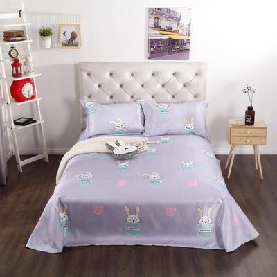 新品冰丝席三件套 枕套床单凉席 席子可折叠机洗水洗套件批发冰丝凉席  冰丝席 时尚冰丝席 2.0m(6.6英尺)床 小兔