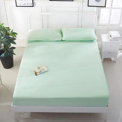 2020冰凉沙凉席三件套可折叠凉席子凉席床笠款冰丝凉席  冰丝席 时尚冰丝席 1.2m(4英尺)床 绿色