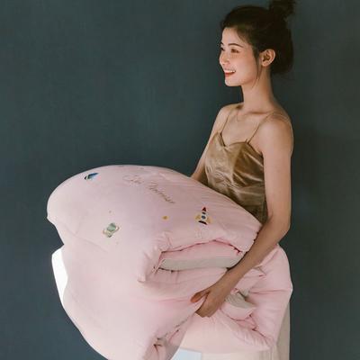 2020新款40s暖绒冬被被芯—Nature 绵绵被 150x200cm  3.16斤 粉色