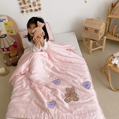 2020新款兒童天絲刺繡夏被 單品夏被120x150cm 餅干熊
