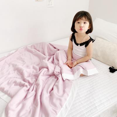 2020新款兒童天絲夏被—模特圖 單品夏被120x150cm 芭比粉