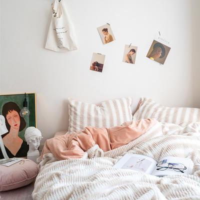 2019新款糖果絨四件套 1.8m(6英尺)床單款 薩瓦迪咖