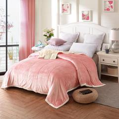 贝贝绒亲肤双层毯 1.5*2.0 粉色