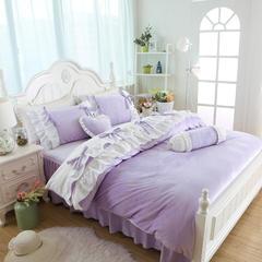 短毛绒小清新款四件套 2.0m床 魅惑-浅紫