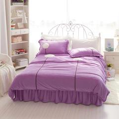 立体短毛绒四件套-蒲公英 1.8m床 深紫