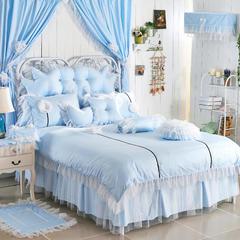 纯情莎莎公主四套件 心形枕/个 纯情莎莎公主-蓝色