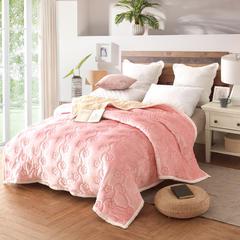 三层加厚复合毯 1.5*2.0 粉色