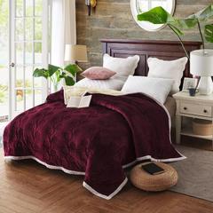 三层加厚复合毯 2.0*2.3 枣红