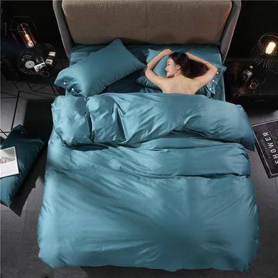60s贡缎长绒棉四件套 1.5m(5英尺)床 浅石蓝