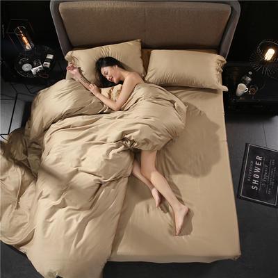 60s贡缎长绒棉四件套 1.5m(5英尺)床 钛古金