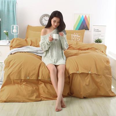 纯棉13372纽扣纯色四件套 1.5m(5英尺)床 星光