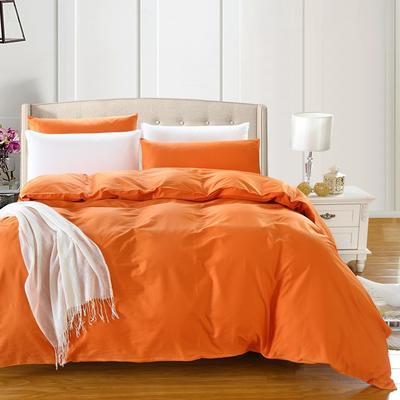 全棉13372单品纯色被套 160x210cm 浪漫橙