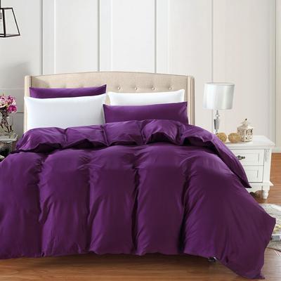 全棉13372单品纯色被套 160x210cm 魅惑紫