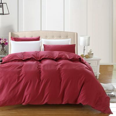 全棉13372单品纯色被套 160x210cm 珊瑚红