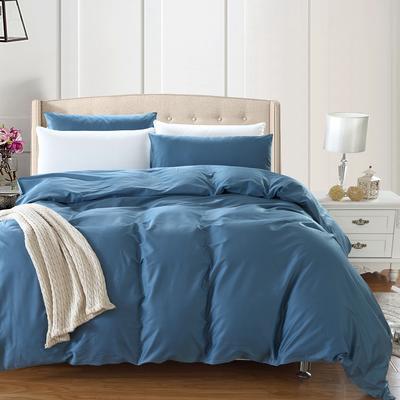 全棉13372单品纯色被套 180x220cm 深海蓝