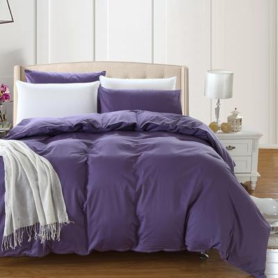 全棉13372单品纯色被套 180x220cm 神秘紫