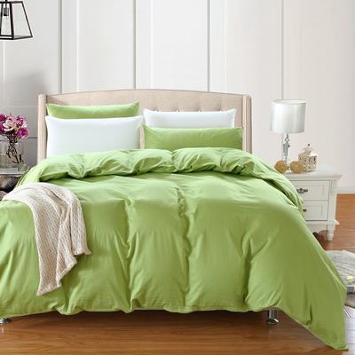 全棉13372单品纯色被套 180x220cm 椰壳绿