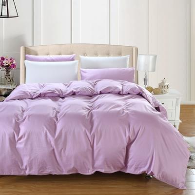 全棉13372单品纯色被套 160x210cm 优雅紫