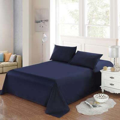 全棉13372单品纯色床单 195*235cm 巴厘蓝