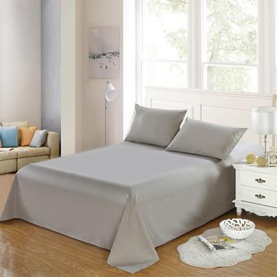 全棉13372单品纯色床单 195*235cm 丁香灰