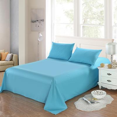 全棉13372单品纯色床单 195*235cm 湖水蓝