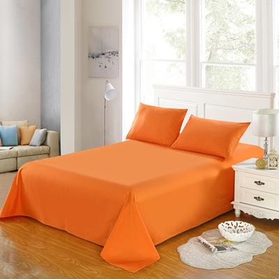 全棉13372单品纯色床单 195*235cm 浪漫橙