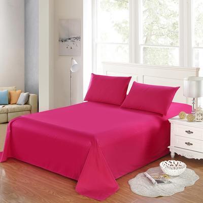 全棉13372单品纯色床单 195*235cm 玫瑰红