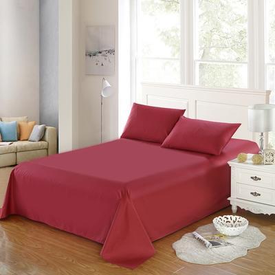 全棉13372单品纯色床单 195*235cm 珊瑚红