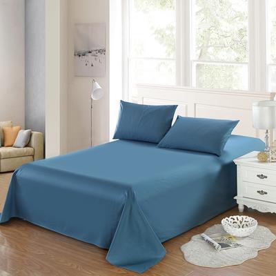 全棉13372单品纯色床单 195*235cm 深海蓝