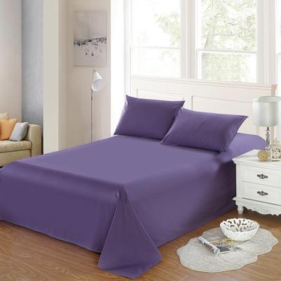 全棉13372单品纯色床单 195*235cm 神秘紫