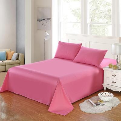 全棉13372单品纯色床单 195*235cm 胭脂粉