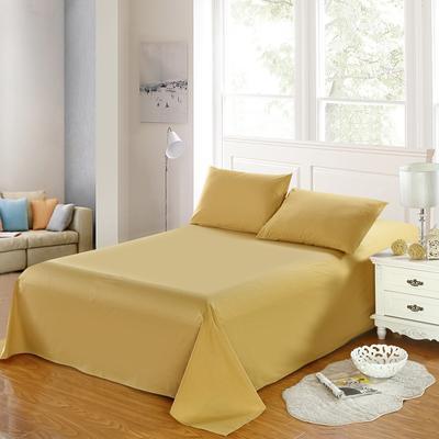 全棉13372单品纯色床单 195*235cm 耀沙金
