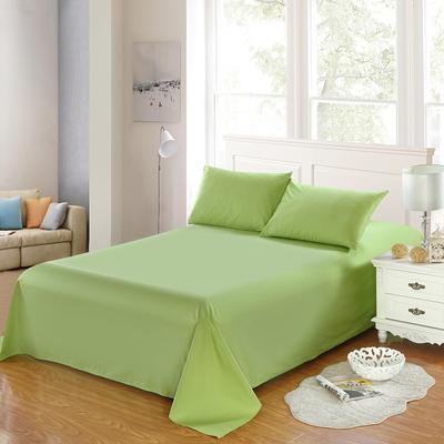 全棉13372单品纯色床单 195*235cm 椰壳绿