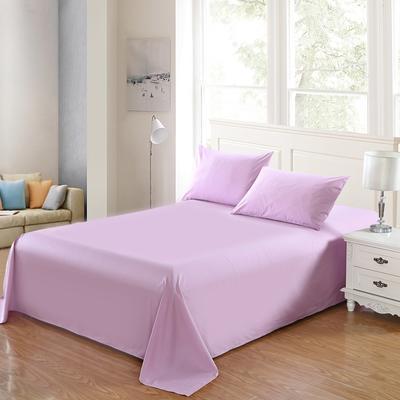 全棉13372单品纯色床单 195*235cm 优雅紫