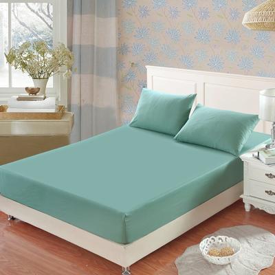 全棉13372单品纯色床笠 150cmx200cm 玛瑙绿