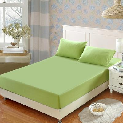 全棉13372单品纯色床笠 150cmx200cm 椰壳绿