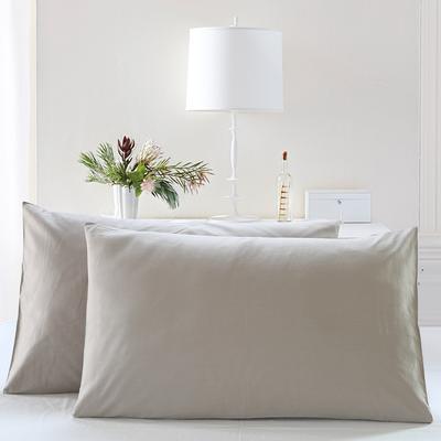 全棉13372单品纯色枕套 48cmX74cm/一对 丁香灰
