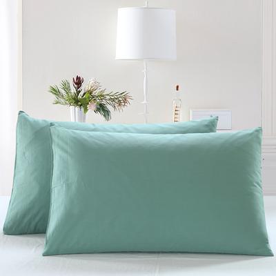 全棉13372单品纯色枕套 48cmX74cm/一对 玛瑙绿
