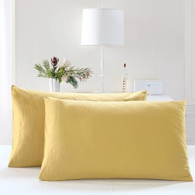 全棉13372单品纯色枕套 48cmX74cm/一对 耀沙金