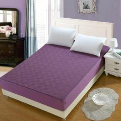 全棉时尚夹棉床笠 120*200cm+30cm 优雅紫