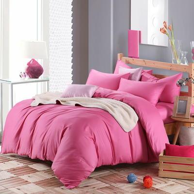 2018新款-何以笙萧默同款纯色四件套 1.5m(5英尺)床 胭脂红