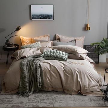 2018新款-全棉纯色磨毛四件套 1.5m(5英尺)床 赫尔辛基