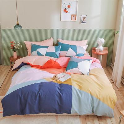 2020新款-喷气全棉13372二次元卡通四件套 床单款三件套1.2m(4英尺)床 青春需要温暖