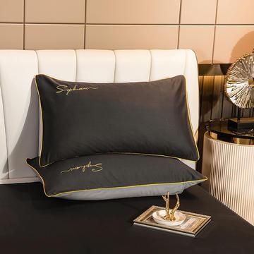 2020新款-40s贡缎长绒棉字母款单品枕套