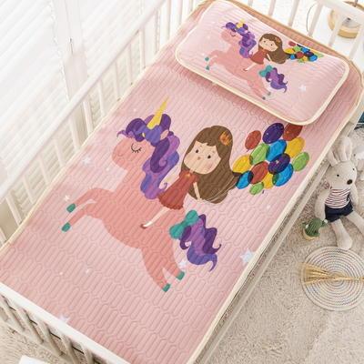 2020新款儿童凉感丝乳胶凉席 60*120cm凉席1条+30*50cm枕套1个 追梦女孩