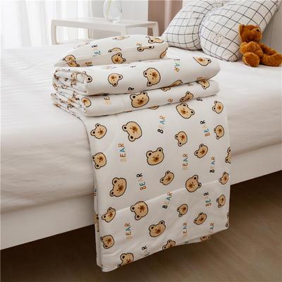 2021新款A类生态针织棉大豆纤维夏被 120x150cm 饼干小熊