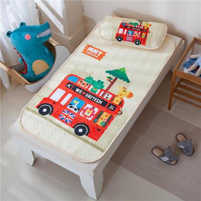 2021新款凉感丝儿童乳胶凉席 60*120cm凉席+30*50枕套/只 巴士乐园